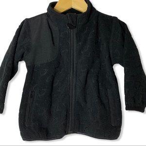 Appaman black fleece zip front jacket 18 month